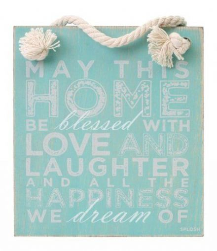 Seafoam Home Blessed Hanging Sign